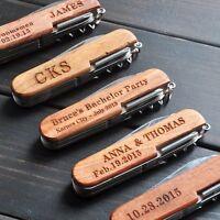 Personalized Pocket Knife Custom Multi Tool Engraved Name Groomsman Wedding Gift