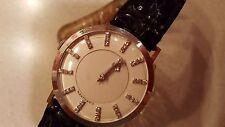 Vintage Longines 14K White Gold Mystery Dial Manual 41 Diamond Wristwatch