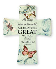 PORCELAIN CROSS - ALL THINGS BRIGHT AND BEAUTIFUL ALL CREATURES GREAT AND SMALL