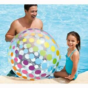 "LARGE JUMBO INFLATABLE BEACH BALL 42""/107CM SWIM POOL BEACH PARTY FAMILY FUN"