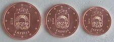 1+2+5 Euro Cent Lettland 2014 unz