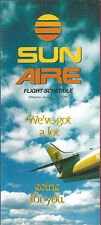 Sun Aire system timetable 1/15/85 [6101] Buy 2 Get 1 Free