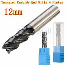 12MM Tungsten Carbide End Mill 4 Flute Shank Drill HRC50 75MM Length Flat Bottom