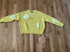 Obey Gold cotton university sweater Urban Outfitters size m