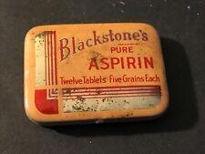 Vintage Blackstone's Pure Aspirin Empty Tin Blackstone Products Co. St Louis USA