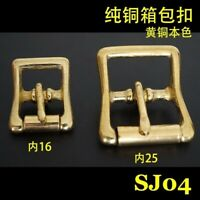 2X Brass Roller Pin Buckle Slider Bar Strap Luggage Accessor Leathercraft SJ04