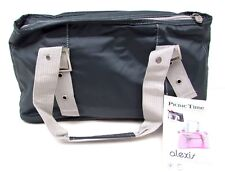 Picnic Time Alexis Insulated Lunch/Wine Tote Bag Purse Gray w Silver Trim Nwt
