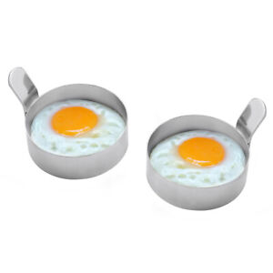 2Pcs Non-Stick Omelet Molds Stainless Steel Fry Egg Pancake Rings Cooking Tool S