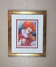 Ute Mertens Clown Print Signed Der Traumer Framed Matted
