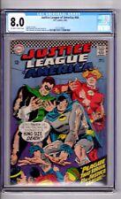 "Justice League America #44 CGC 8.0 OW/WP ""JLA...Black..PLAGUE.! Sekowsky C & A!"
