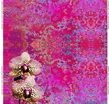Baumwoll-Jersey Stenzo Panel Orchidee pink bunt 150 cm x 150 cm