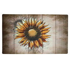 "Non-Slip Home Fashion Fall Sunflower Vinyl Back Painting Mats Doormat 29""X17"""