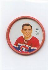 62-63 SHIRRIFF HOCKEY COIN #38 BILL HICKE CANADIENS