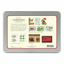 Cavallini - Mailing Set - Christmas Birds - Cards, Stamps, Stickers & Ink Pad