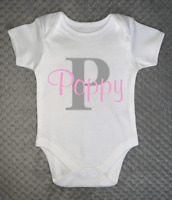 PERSONALISED unisex BABY clothing vest Baby Grow baby shower gift - ANY NAME