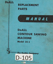 Doall 16-1, Contour Saw, Replacement Parts Manual