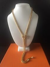 Nolan Miller Gold Tone Bow Necklace