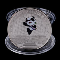 China International Exposition Commemorative Coin Panda Coin Silver Plated ME