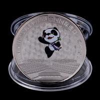 China Internationale Ausstellung Gedenkmünze Panda Münze Silber überzogenes ZXJ