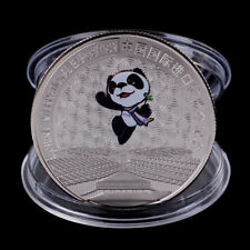 China International Exposition CommemorativeCoin Panda Coin Silver Plated GiftBI