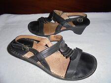 Colorado Ladies Black leather Opanka stitched shoes size 7 Ex cond