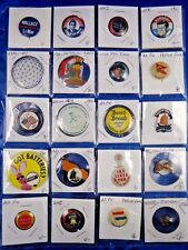 Lot of 20 WWI WWII JFK Wallace Expo 67 Bond Bread Advertising Pin Pinback Button