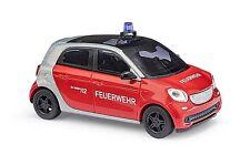 BUSCH 49560 Smart Forfour 2014, Bombero H0 #nuevo emb. orig.#