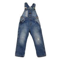 Zara Baby Boy Standard Denim Blue Jean Overalls Pants Bib 18-24M 92CM Distressed