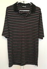 Ping Men's Size L Striped Collared Polo Casual Golf Shirt Tshirt Tee