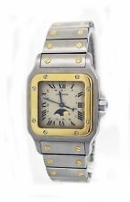 Cartier Santos Galbee 29mm 18k Stainless Steel Moon Phase Quartz Watch 119901