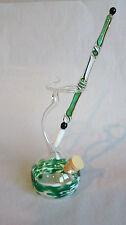 Glasfeder Glasfüller im Set mit farbigen Tintenfass Grün Weiß