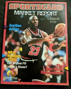 Michael Jordan Sportscard Market Report Magazine February 2001