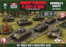 USAB05 GRIMBALLS BEASTS TANK COMPANY - FLAMES OF WAR - USA WW2