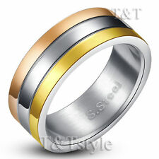 Rose Gold Plated Band Fashion Rings