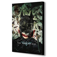 Batman - The Dark Knight - Joker - Canvas Wall Art Framed Print. Various Sizes