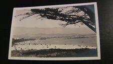 1920's Anderson RPPC Photo Postcard--CALIFORNIA--Santa Barbara--Beach Pier Bldgs