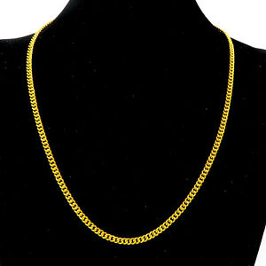 NYJEWEL 24k Yellow Gold Investment Heavy China Style Chain Necklace 37.4 Grams