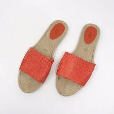c09d5001d06 UGG Women's Cherry Exotic Hazard Orange Slide Sandal Size 10 Leather Flat  New