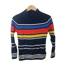 Gap Striped Knit Sweater Women Small Size Pullover Turtle Neck