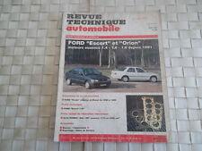 REVUE TECHNIQUE FORD ESCORT ET ORION MOTEUR ESSENCE CLIPPER - CABRIOLET - VAN