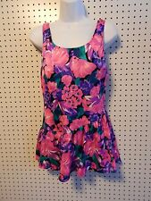 Womens Sunbird swimsuit ~ size 40 ~ one piece ~ pink floral