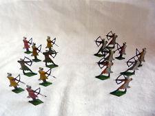 Plats d'étain KIEL - Lot de 16 archers arabes ou sarazins des croisades.
