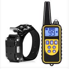 Waterproof Remote Control Dog Electric Training Collar - Black