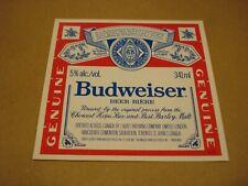 Budweiser Beer Label #1 - Labatt Brewing - Canada