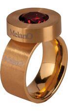Melano Cameleon ANELLO 8 mm Misura 60 CON DISCO e zirconi rosso COMPLETO anello