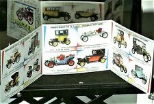 Réplique catalogue RAMI  1965,  miniatures autos 1890/1930