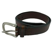 Fossil Leather Belt Men's Size 36 Brown Smooth Casual Metal Buckle