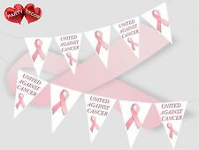 United Against Cancer Pink Ribbon Theme Bunting Banner Party by PARTY DECOR