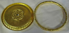 """NEW 5-3/4"""" Shiny Brass Embossed Clock Dial, Pan and Bezel Assembly (DB-11)"""