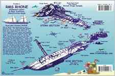 Rms Rhone Wreck Layout Bvi Reef Creatures Guide Laminated Fish Card Franko Maps